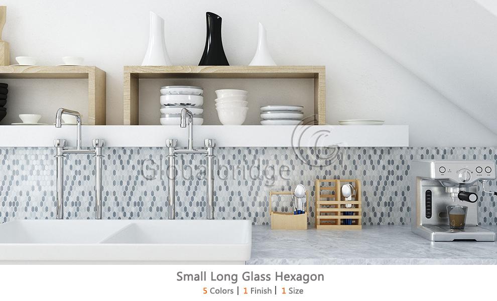 Small Long Glass Hexagon