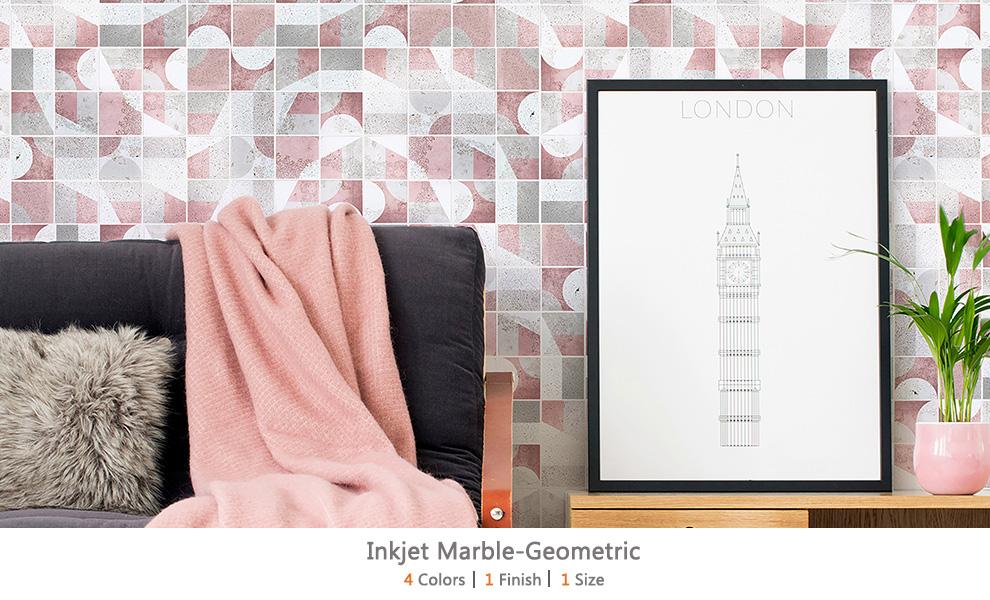 Inkjet Marble-Geometric