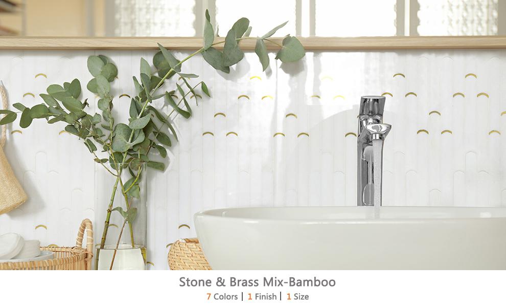 Stone & Brass Mix-Bamboo