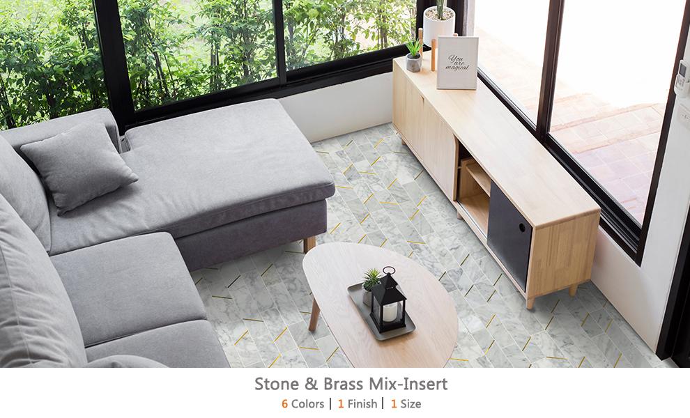 Stone & Brass Mix-Insert