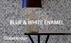 Blue & White Enamel