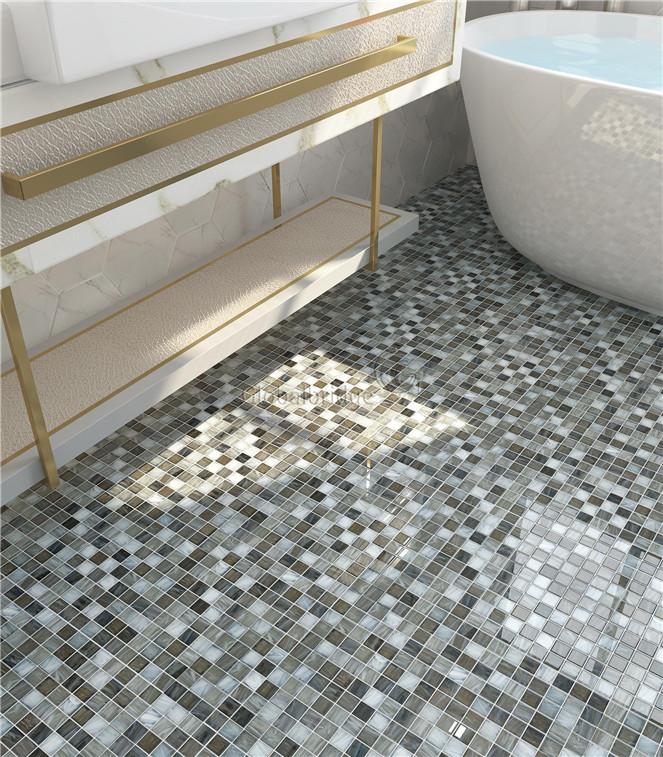 Information Bathroom Floor Tile Glass Mosaic For A Luxurious Look